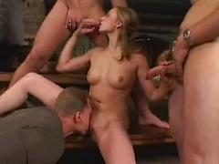 Sexy Blonde Who Must Have a Day Job Does Gangbangs On The Side!