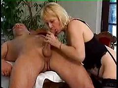 German mature fucked facialed