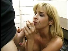 Beautiful Blonde Girl Sucks Dick And Gets Cum In Her Mouth