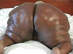 Huge Ebony Ass Gets Oiled Up And Eaten Out