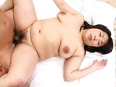 Chubby Asian Granny Gets Done Hard On The Bed