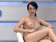 Hot Girl Starts Undressing During A Show