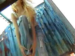 Spy Cam Recording When Nice Tit Ladies Getting Shower