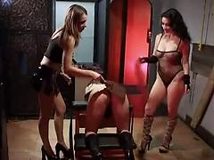 A Blindfolded Babe Gets Fucked By Another Girl