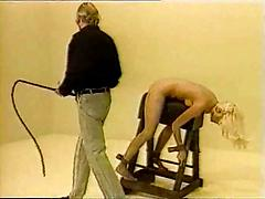 Older Blonde Gets Tied Up And Whipped For Art