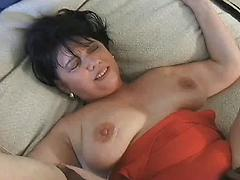 Fat Black Haired Old Lady Loves The Taste Of Black Cock
