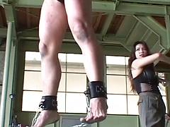Two Sexy Lesbians Roleplay In A Sex Dungeon