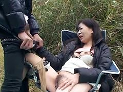 Asian Girl Feels Horny In Her Car And Touches Herself