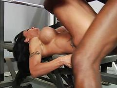Neglected Milf Gets A Big Black Cock At The Gym