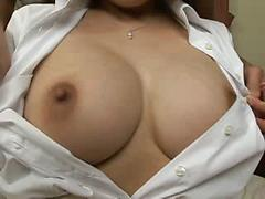 Asian With Huge Tits Exposes Them For Us