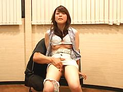 Hot Japanese Chick Gets Fingered And Fucked On Chair