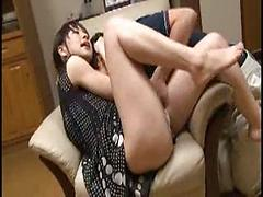 Lovely Asian Couple Enjoying Hard Fuck At Kitchen