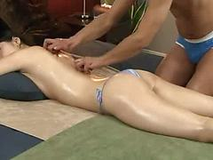 Naked Hot Asian Getting Oiled Down And Massaged