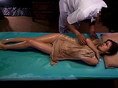 Asian Masseur Provides A Little Something Extra With His Oil