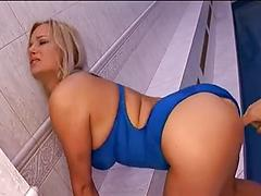 Blonde Beauty Gets Fucked By Asian Guy In Bed