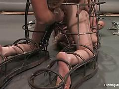 Three Sexy Lesbians Enjoy Some New Toys In Their Sex Dungeon