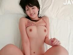 Small Titted Asian Rubs Her Muff Til She Explodes