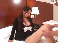 Horny Asian Whore Sucks And Rides Dick On Bed