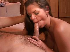 Busty Babe Gets Drilled By A White Cock.