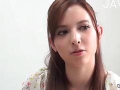 Innocent Japanese Teen Sucks On Her Cock-shaped Dildo