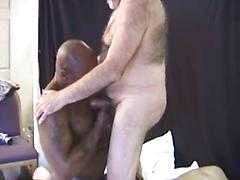 Hot black guy and two mature white guys