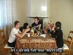 Drunken russian youth
