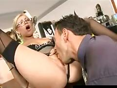 Hot donna bell gets fucked at the office by her boss nick lang