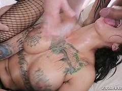 Bonnie Rotten spills & extracts the milk of 3 meat logs