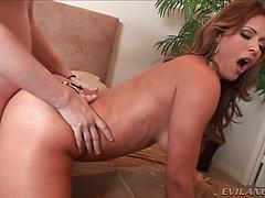 Fantastic Monique demonstrates off her cock-squeezing undies and super-cute big butt