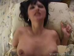 Massive boobed milf gets down and filthy in pov activity flick