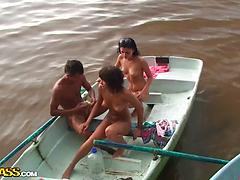 Ultra-kinky school buttfuck orgy on a boat