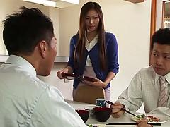 Sexy Asian housewife cuckolds her hubby with a handsome guy
