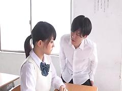 Bubble assed Japanese teacher satisfies her horny student