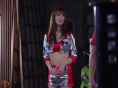 Gagged Asian damsel gets mouth and cunt screwed hard