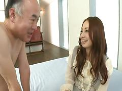 Japanese slut gives her leaking snatch to horny dudes