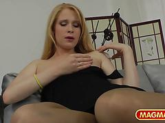 European Blonde Is Kinky In Public And Private