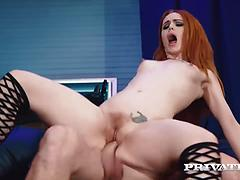 Stunning Red Head Beauty Ella Hughes Gets Her Trimmed Pussy Pounded