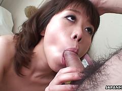 Asian Sucking The Dick In Deep Close Up