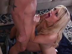 Very hot blonde fucked in several positions