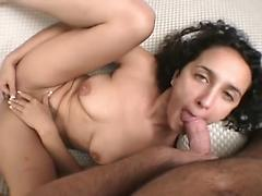 Hot POV Blowjob from Latina Wife